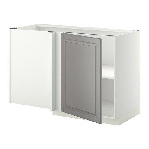 METOD - corner base cabinet with shelf, white/Bodbyn grey | IKEA Hong Kong and Macau - PE352248_S4