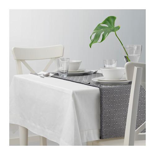 GODDAG - 裝飾用檯布, 黑色/白色 | IKEA 香港及澳門 - PE628921_S4