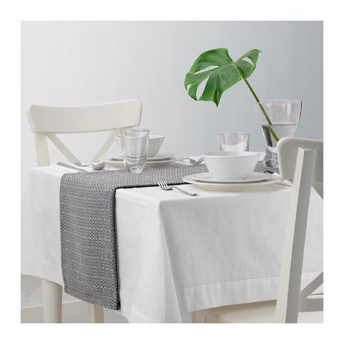 GODDAG - 裝飾用檯布, 黑色/白色 | IKEA 香港及澳門 - PE628922_S4