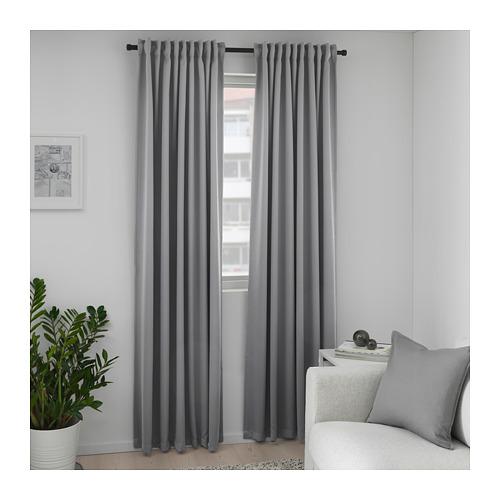MAJGULL - 遮光窗簾,一對, 灰色 | IKEA 香港及澳門 - PE676988_S4