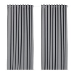 MAJGULL - block-out curtains, 1 pair, grey | IKEA Hong Kong and Macau - PE676987_S3