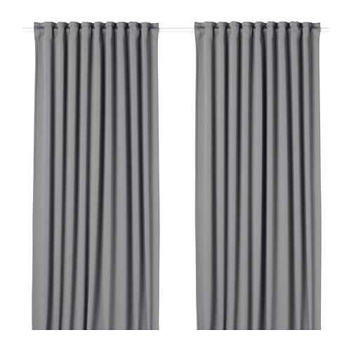MAJGULL - 遮光窗簾,一對, 灰色 | IKEA 香港及澳門 - PE676987_S4