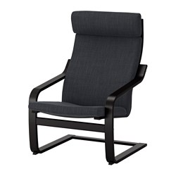 POÄNG - armchair, black-brown/Hillared anthracite | IKEA Hong Kong and Macau - PE628962_S3