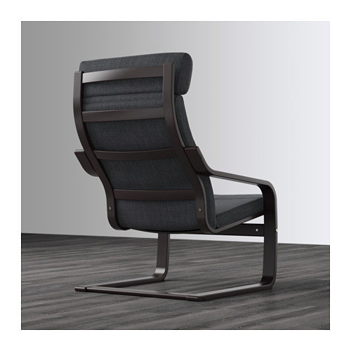 POÄNG - armchair, black-brown/Hillared anthracite   IKEA Hong Kong and Macau - PE628965_S4