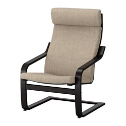 POÄNG - armchair, black-brown/Hillared beige | IKEA Hong Kong and Macau - PE628967_S3
