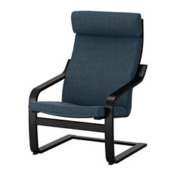 POÄNG - armchair, black-brown/Hillared dark blue | IKEA Hong Kong and Macau - PE628972_S3