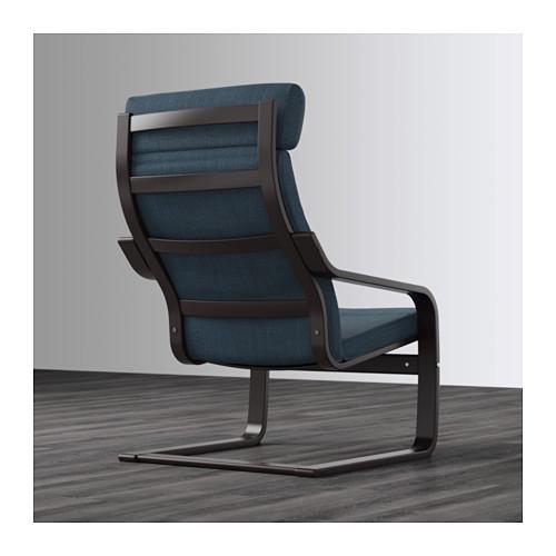 POÄNG - armchair, black-brown/Hillared dark blue | IKEA Hong Kong and Macau - PE628975_S4