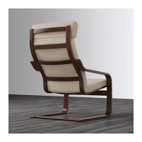 POÄNG - armchair, brown/Hillared beige   IKEA Hong Kong and Macau - PE628985_S4