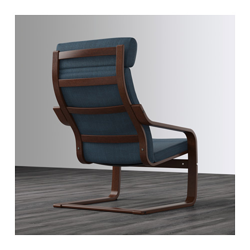 POÄNG - armchair, brown/Hillared dark blue | IKEA Hong Kong and Macau - PE628990_S4