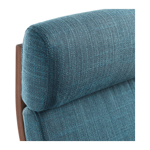 POÄNG - armchair, brown/Hillared dark blue | IKEA Hong Kong and Macau - PE628989_S4
