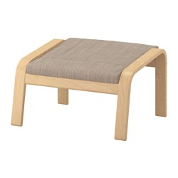 POÄNG - footstool, birch veneer/Hillared beige | IKEA Hong Kong and Macau - PE629072_S3