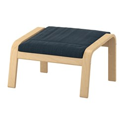 POÄNG - footstool, birch veneer/Hillared dark blue | IKEA Hong Kong and Macau - PE629078_S3