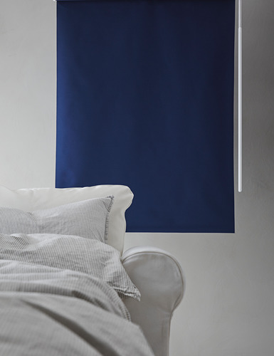 FRIDANS - block-out roller blind, 100x195cm, blue | IKEA Hong Kong and Macau - PH162090_S4