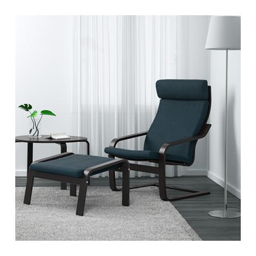 POÄNG - armchair, black-brown/Hillared dark blue | IKEA Hong Kong and Macau - PE629090_S4