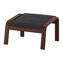POÄNG - footstool, brown/Hillared anthracite | IKEA Hong Kong and Macau - PE629091_S3