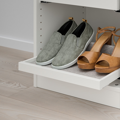 KOMPLEMENT - pull-out tray with shoe insert, white/light grey   IKEA Hong Kong and Macau - PE766920_S4