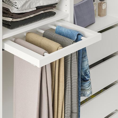 KOMPLEMENT - 拉出式褲架, 白色 | IKEA 香港及澳門 - PE766930_S4