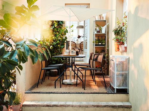 VIHOLMEN/VIHOLMEN - table+4 chairs, outdoor, dark grey/dark grey | IKEA Hong Kong and Macau - PH177038_S4