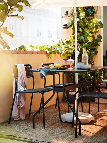 VIHOLMEN/VIHOLMEN - table+4 chairs, outdoor, dark grey/dark grey | IKEA Hong Kong and Macau - PH177039_S4