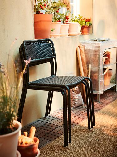 VIHOLMEN/VIHOLMEN - table+4 chairs, outdoor, dark grey/dark grey | IKEA Hong Kong and Macau - PH177041_S4