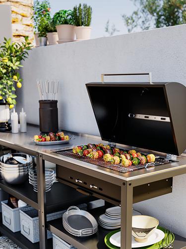 GRILLSKÄR - 廚房星盆/燒烤炭爐,戶外用, 不銹鋼 | IKEA 香港及澳門 - PH176863_S4