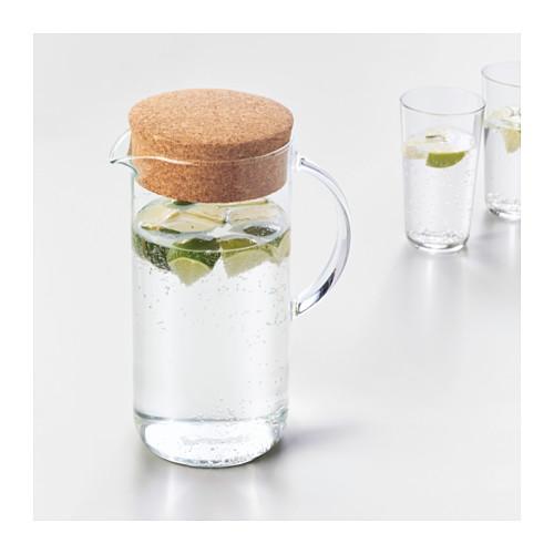 IKEA 365+ - jug with lid, clear glass/cork | IKEA Hong Kong and Macau - PE629221_S4