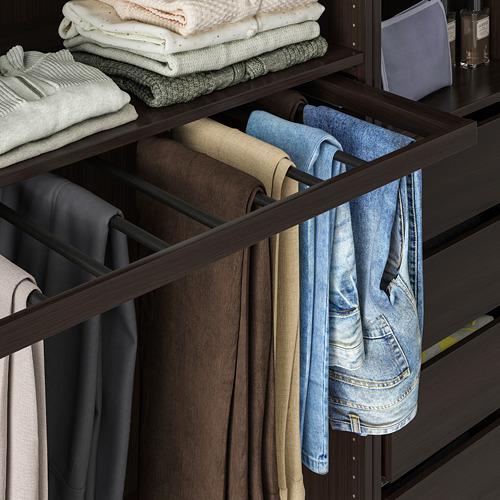 KOMPLEMENT - pull-out trouser hanger, black-brown | IKEA Hong Kong and Macau - PE766939_S4