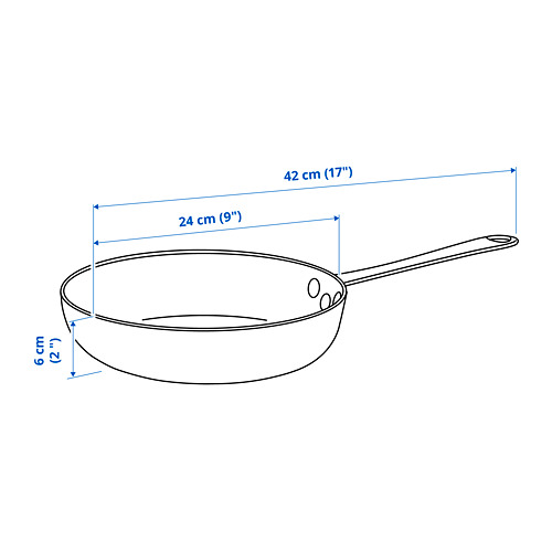 VARDAGEN - 平底煎鍋, 碳鋼 | IKEA 香港及澳門 - PE822740_S4