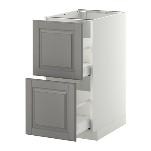 METOD - base cb 2 fronts/2 high drawers, white Maximera/Bodbyn grey | IKEA Hong Kong and Macau - PE350699_S4
