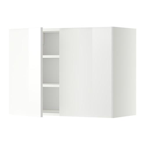 METOD - wall cabinet with shelves/2 doors, white/Ringhult white | IKEA Hong Kong and Macau - PE352301_S4