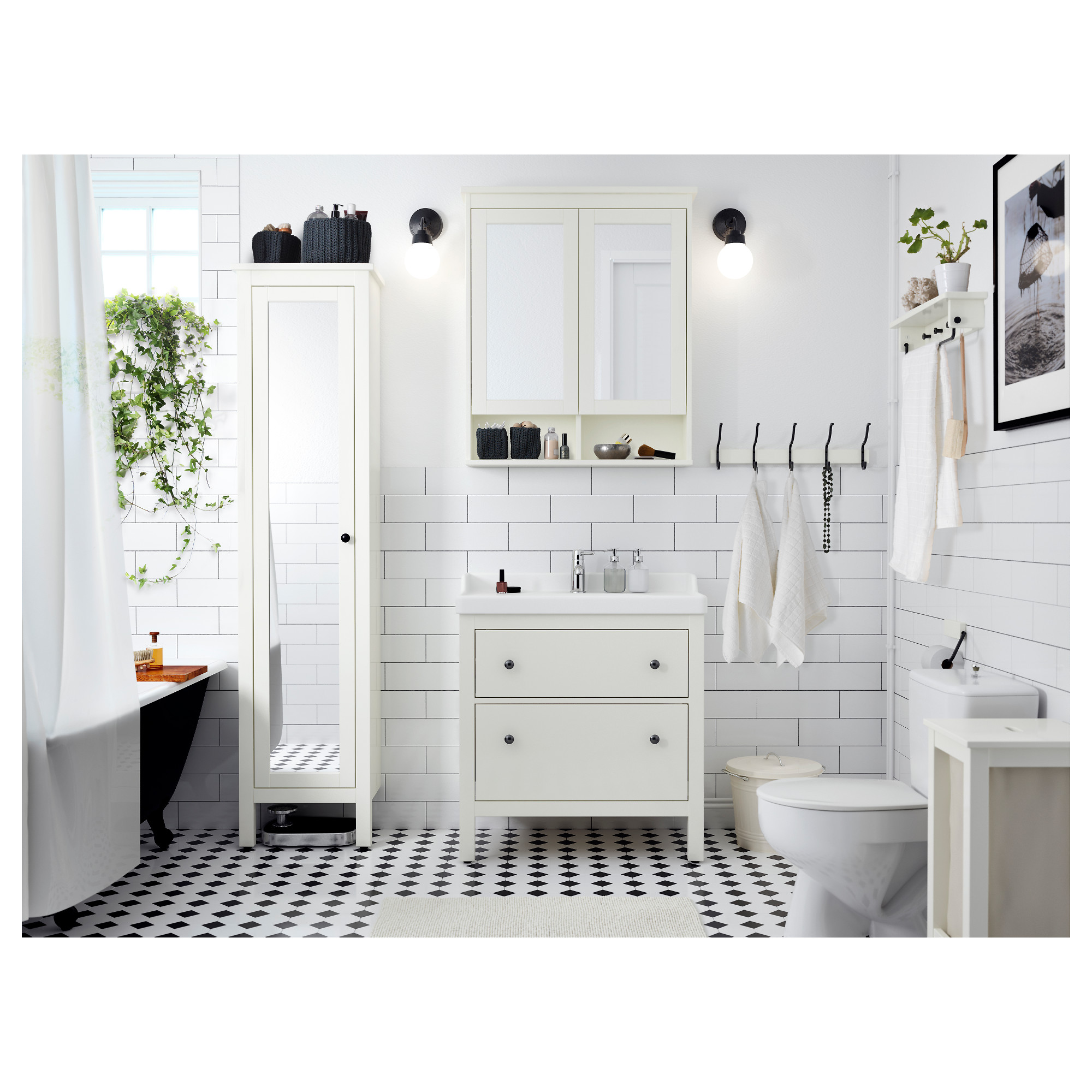 Hemnes High Cabinet With Mirror Door White Ikea Hong Kong And Macau