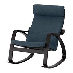 POÄNG - rocking-chair, black-brown/Hillared dark blue | IKEA Hong Kong and Macau - PE629335_S3