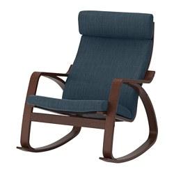 POÄNG - rocking-chair, brown/Hillared dark blue | IKEA Hong Kong and Macau - PE629344_S3