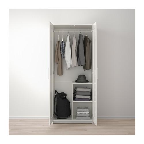 BRIMNES - 雙門衣櫃, 白色 | IKEA 香港及澳門 - PE679014_S4