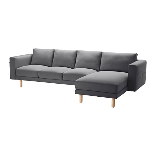 NORSBORG - cover for 4-seat sofa, with chaise longue/Finnsta dark grey | IKEA Hong Kong and Macau - PE564974_S4