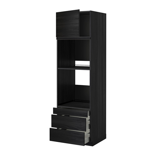 METOD - 焗爐用高櫃連抽屜櫃門組合, 黑色 Maximera/Tingsryd 黑色   IKEA 香港及澳門 - PE349672_S4