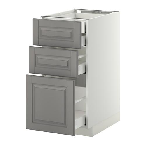 METOD - base cb 3 frnts/2 low/1 md/1 hi drw, white Maximera/Bodbyn grey | IKEA Hong Kong and Macau - PE350349_S4