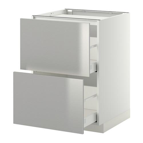 METOD 爐具地櫃連2面板/2抽屜