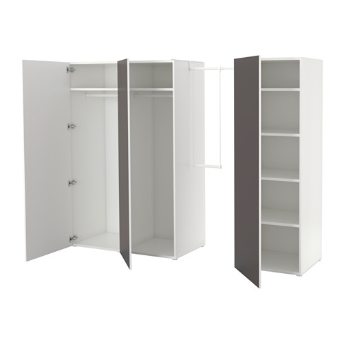PLATSA - wardrobe, white/Skatval dark grey | IKEA Hong Kong and Macau - PE629840_S4