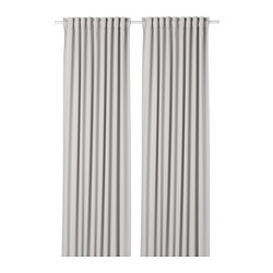 MAJGULL - room darkening curtains, 1 pair, light grey | IKEA Hong Kong and Macau - PE677879_S3