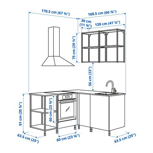ENHET - 角位廚房, 白色 | IKEA 香港及澳門 - PE782623_S4