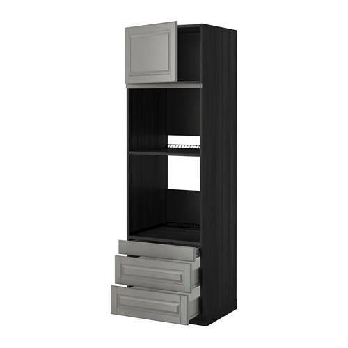 METOD - 焗爐用高櫃連抽屜櫃門組合, 黑色 Förvara/Bodbyn 灰色 | IKEA 香港及澳門 - PE352422_S4