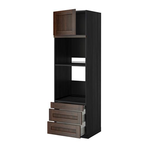 METOD - 焗爐用高櫃連抽屜櫃門組合, 黑色 Förvara/Edserum 褐色 | IKEA 香港及澳門 - PE352424_S4