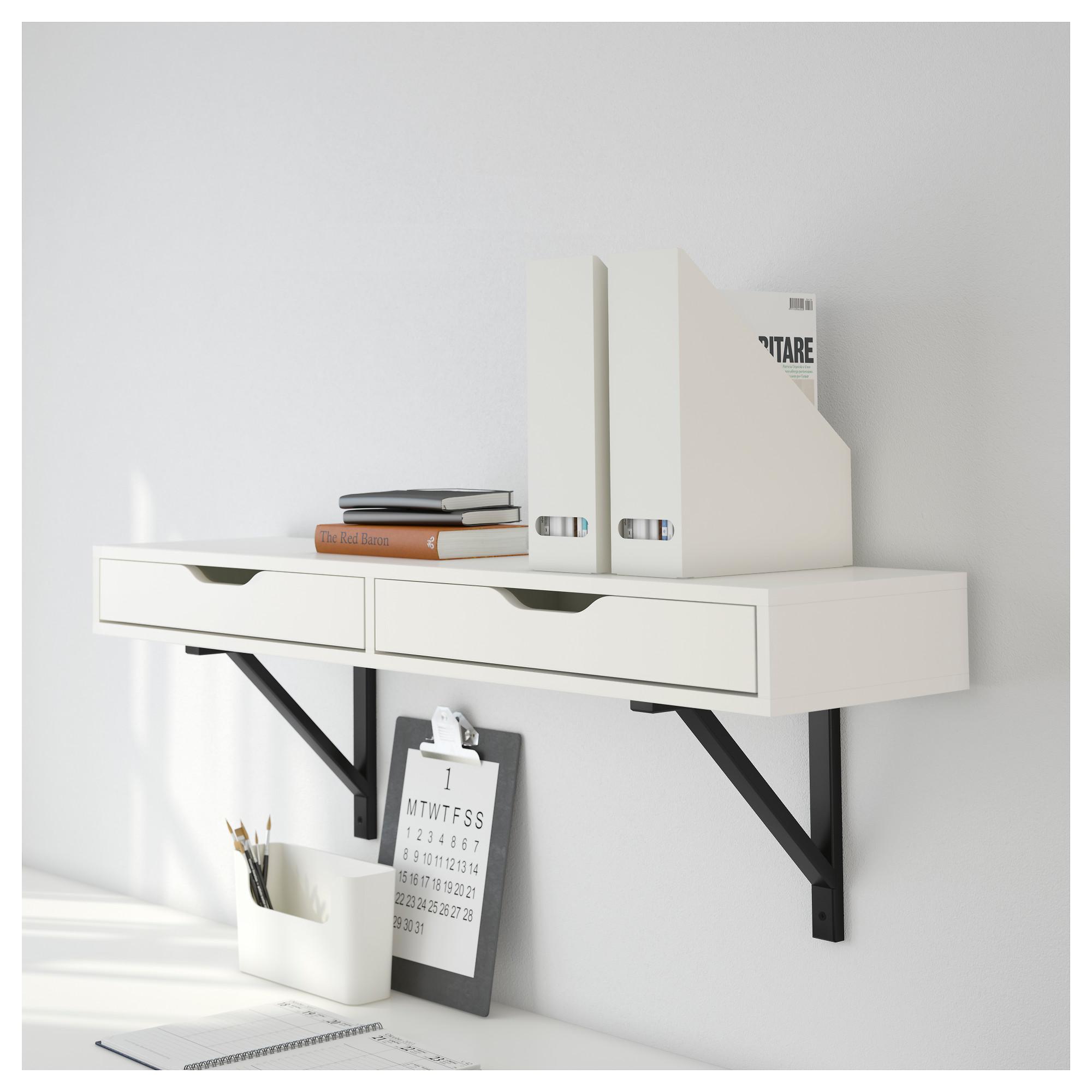 Ekby Alex Shelf With Drawers White Ikea Hong Kong