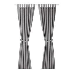LENDA - 窗簾連簾帶,一對, 灰色 | IKEA 香港及澳門 - PE677975_S3