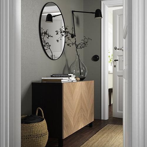 BESTÅ - 貯物組合連門, black-brown/Hedeviken/Stubbarp oak veneer | IKEA 香港及澳門 - PE823234_S4