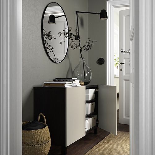 BESTÅ - 貯物組合連門, black-brown/Lappviken/Stubbarp light grey-beige | IKEA 香港及澳門 - PE823347_S4