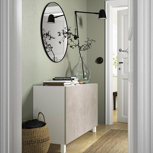 BESTÅ - 貯物組合連門, white Bergsviken/Stubbarp/beige marble effect   IKEA 香港及澳門 - PE823244_S4