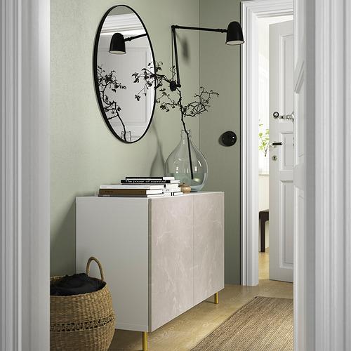BESTÅ - 貯物組合連門, white Bergsviken/Ösarp/beige marble effect   IKEA 香港及澳門 - PE823262_S4