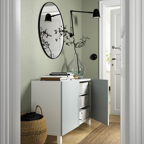 BESTÅ - 貯物組合連門, white Selsviken/Stubbarp/high-gloss light grey-blue   IKEA 香港及澳門 - PE823370_S4